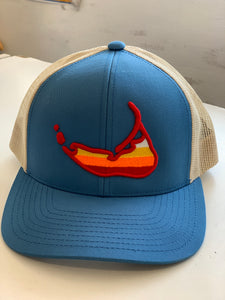 Sunset Island Hat-Ocean Blue/Tan
