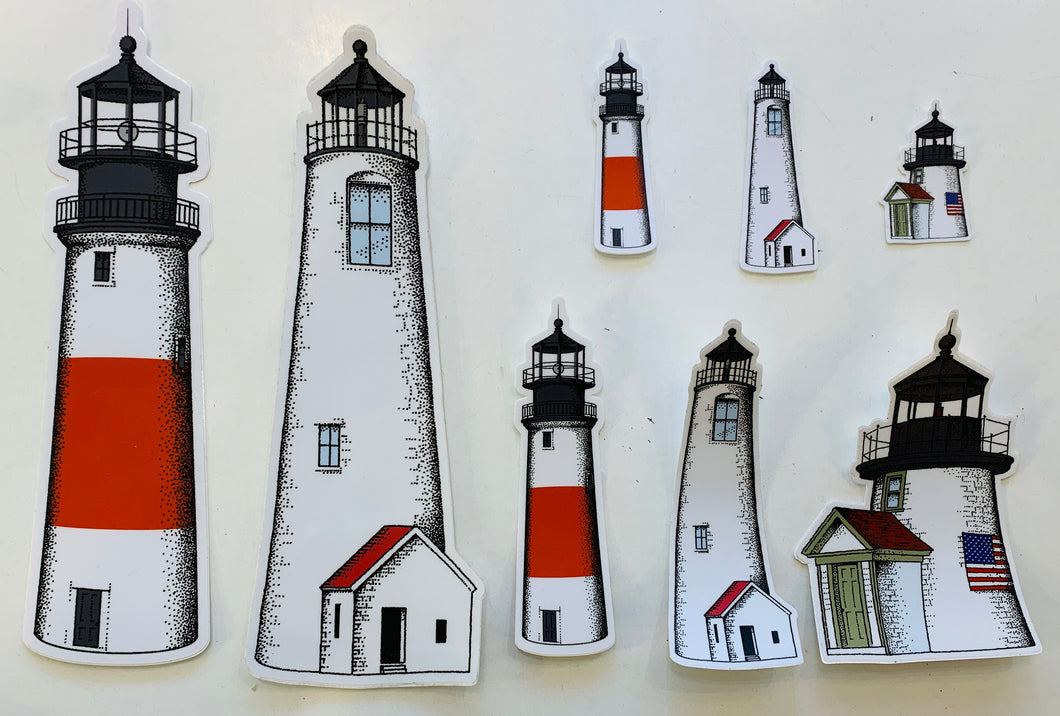 Lighthouse Stickers