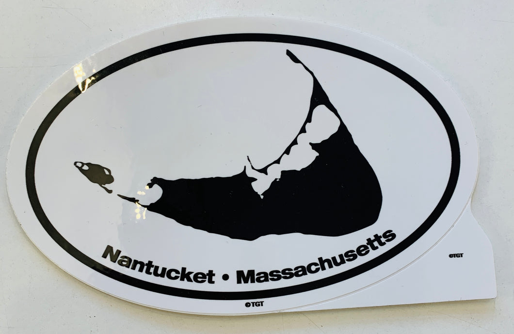 Large Nantucket Black and white Sticker