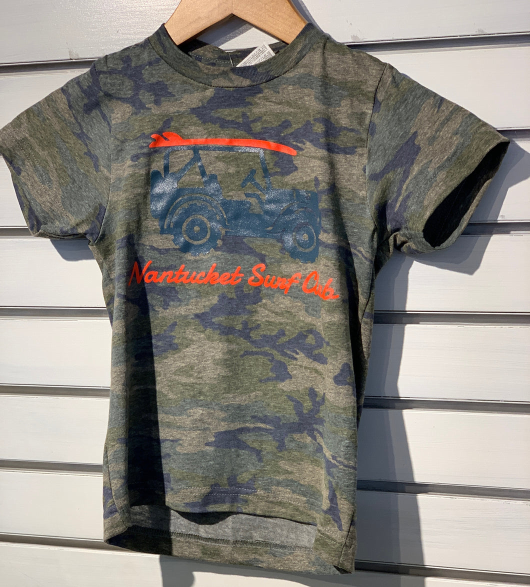 Kids T-Shirt Camo Dark Gray Jeep