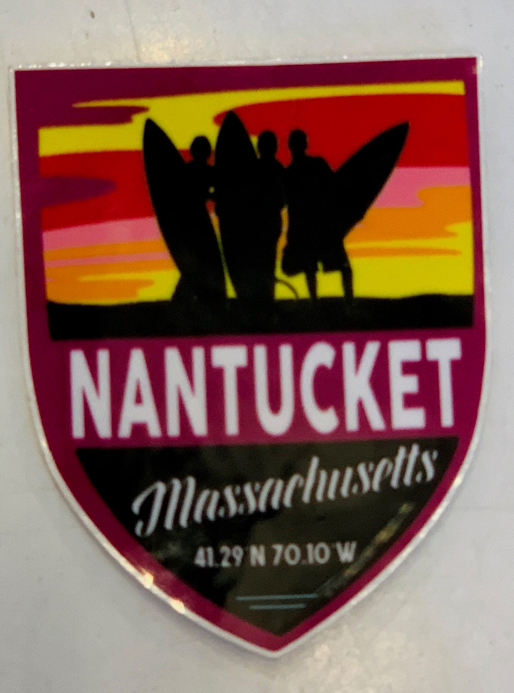 Mini Nantucket Surfing Sticker