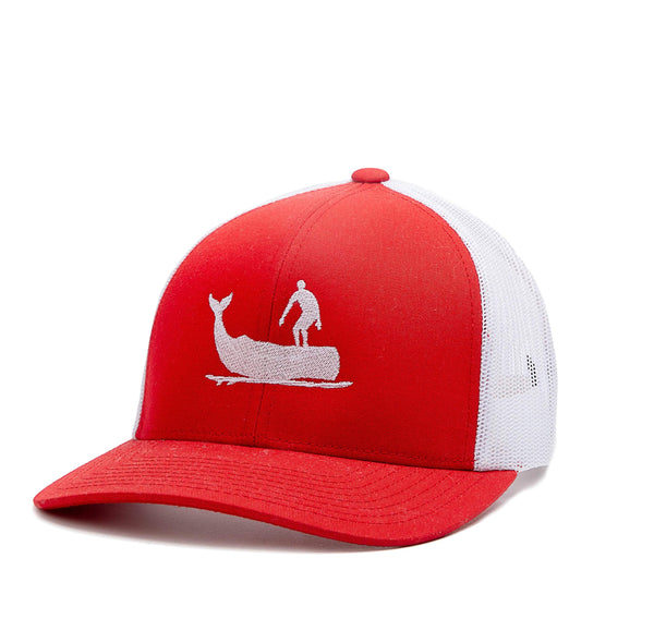 Whale Hat Red