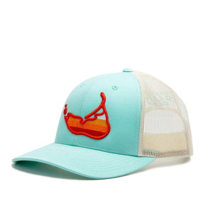 Sunset Island Hat Aqua