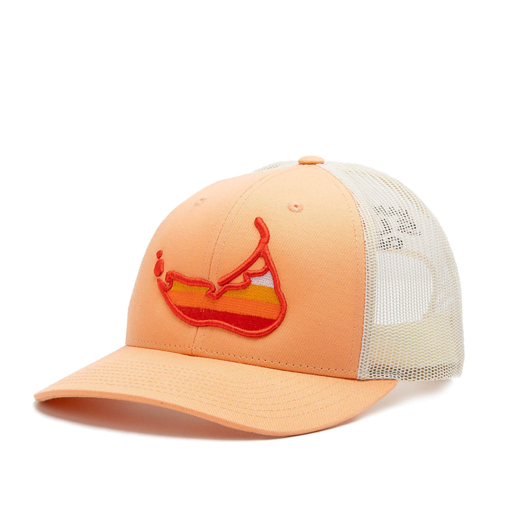 Sunset Island Hat Peach
