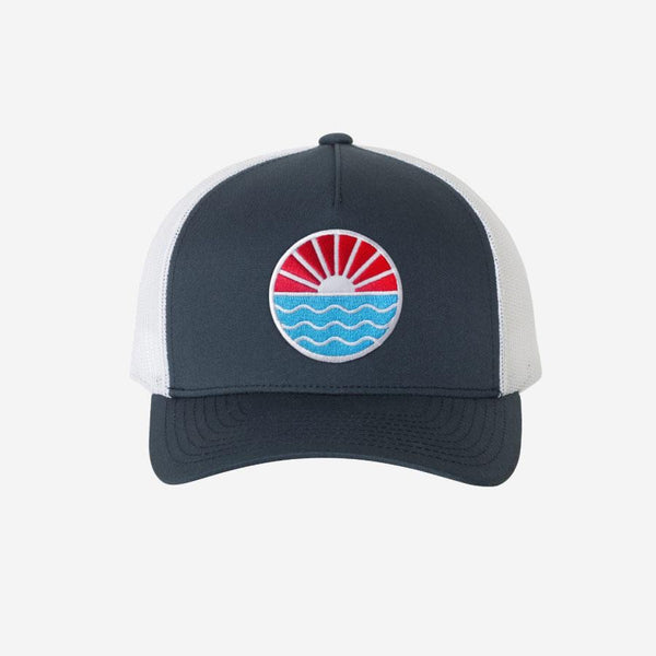 Sun Wave Hat- Navy/White