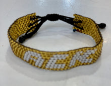 Load image into Gallery viewer, ACK gold beaded bracelet