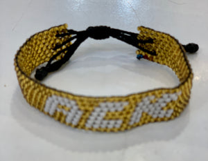 ACK gold beaded bracelet