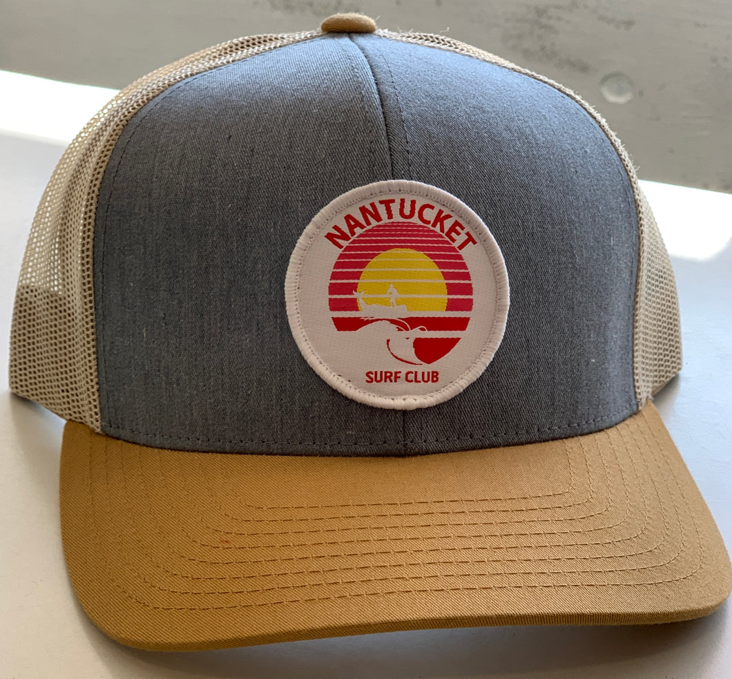 Nantucket Surf Co sunset patch snapback-Tan/Gray