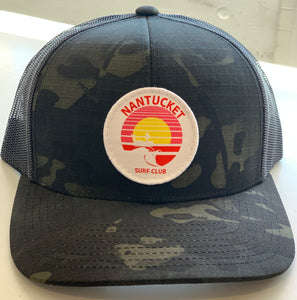 Nantucket Surf Co sunset patch snapback-Black/Tan Camo
