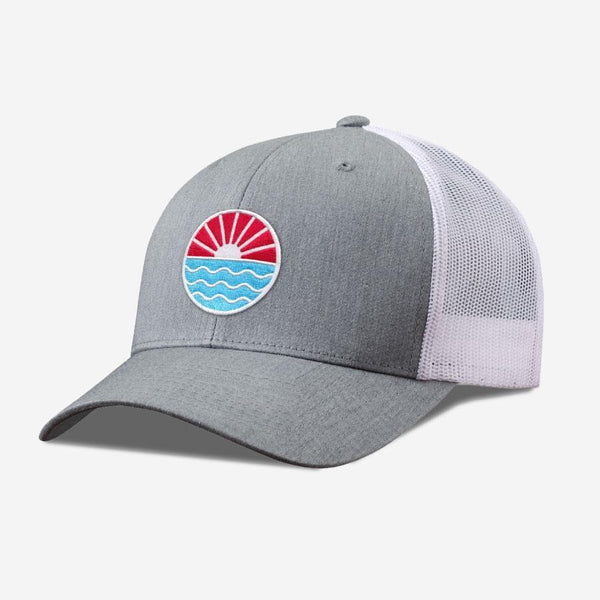 Sun Wave Hat-Heather/White