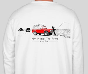 My nine to five long sleeve-white