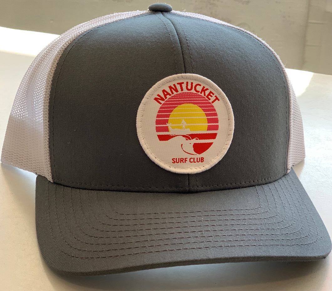 Nantucket Surf Co sunset patch snapback-Gray/White