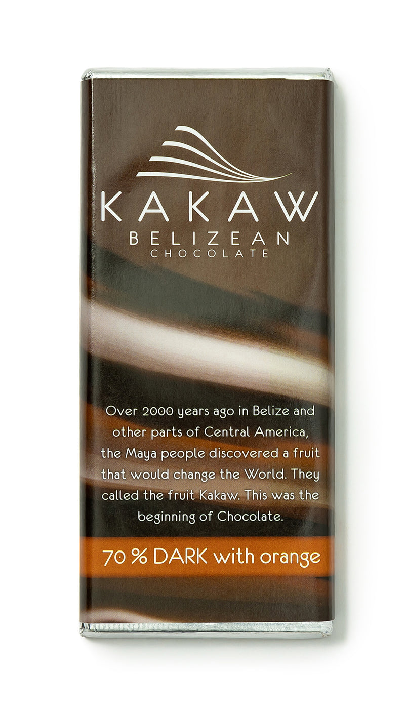 Kakaw 70% dark with orange