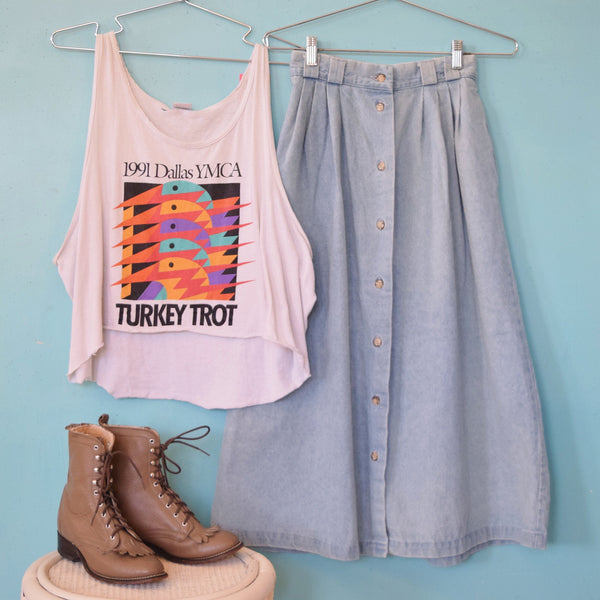 Light Wash Denim Skirt