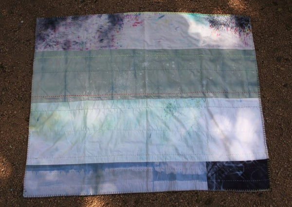 Hand Dyed Patchwork Baby Blanket