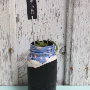 Offering: Hand Painted Glass Planter - Biggie