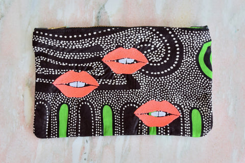 Realm: Toothy Lips Rectangle Clutch