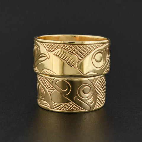 Stacking Gold Native Wedding Bands