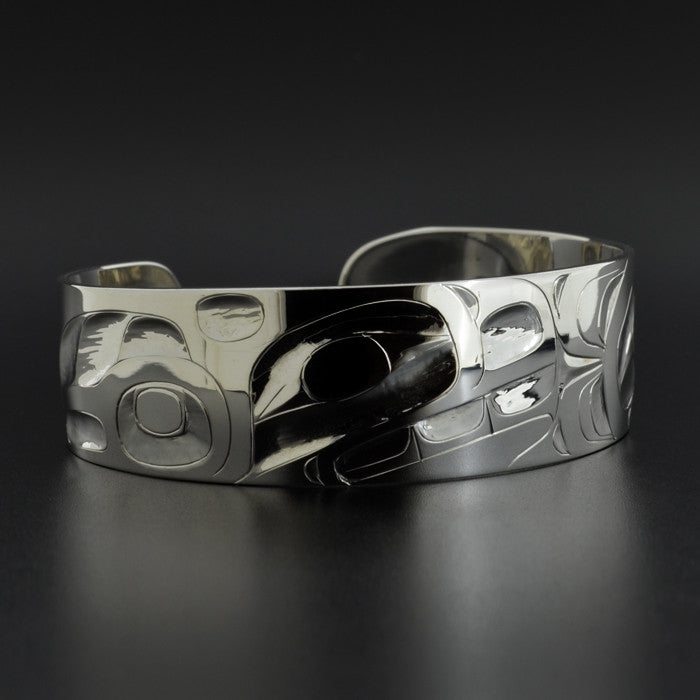 Whale and Hawk - Silver Bracelet