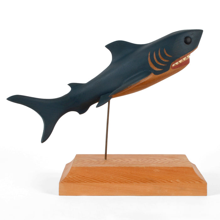 Shark - Red Cedar Sculpture