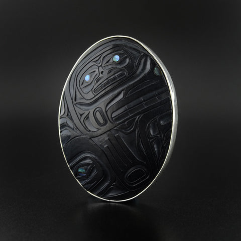 Wasgo Transforming - Argillite Pendant with Abalone
