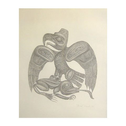 The Eagle And The Frog In Salmon Eater Myth - Limited Edition Print