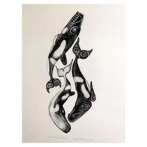 Three Haida Whales - Limited Edition Print
