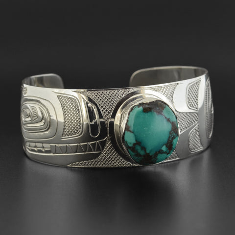 Killerwhale - Silver Bracelet with Turquoise