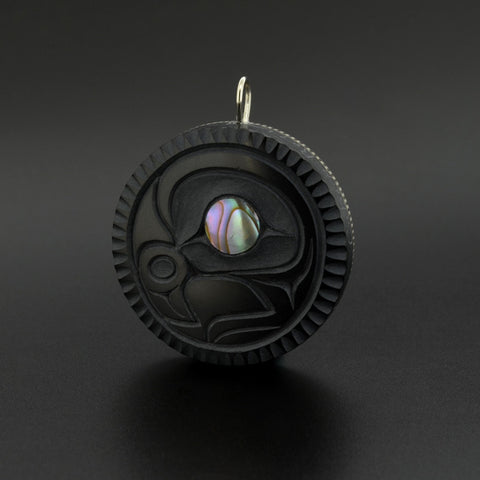Eagle - Argillite Pendant with Abalone