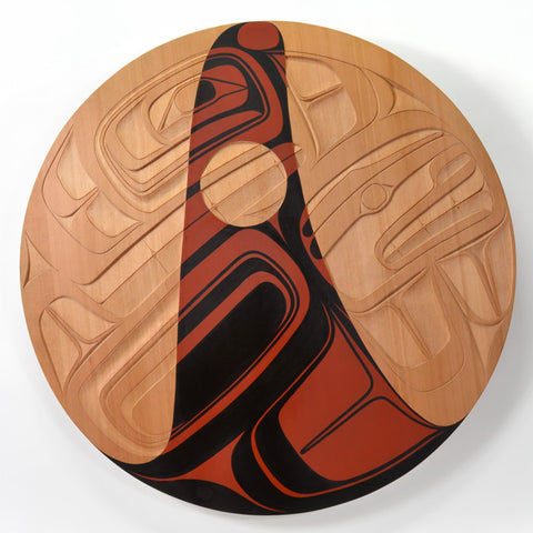 Skaana (Killerwhale) - Red Cedar Panel
