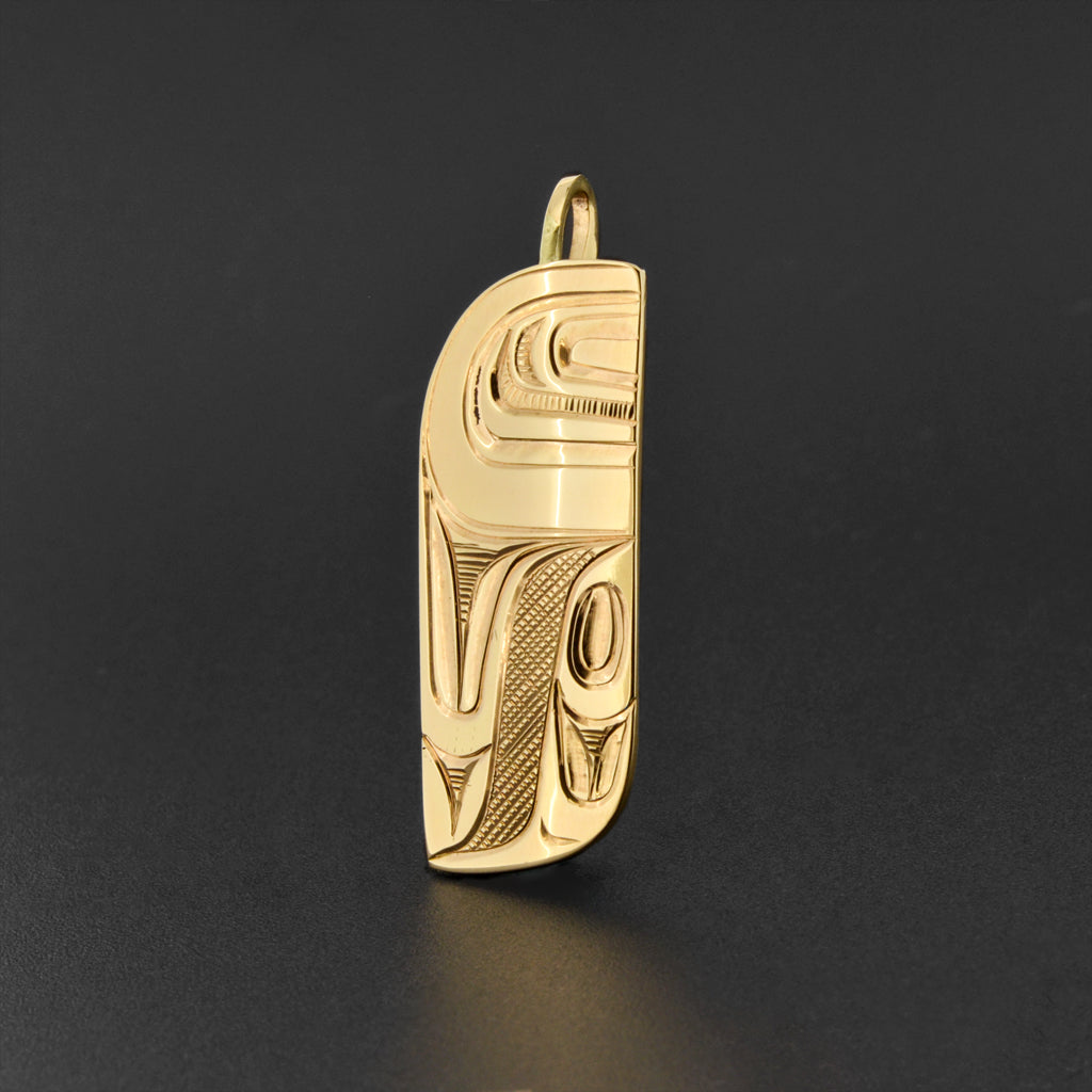 Abstract - 14k Gold Pendant