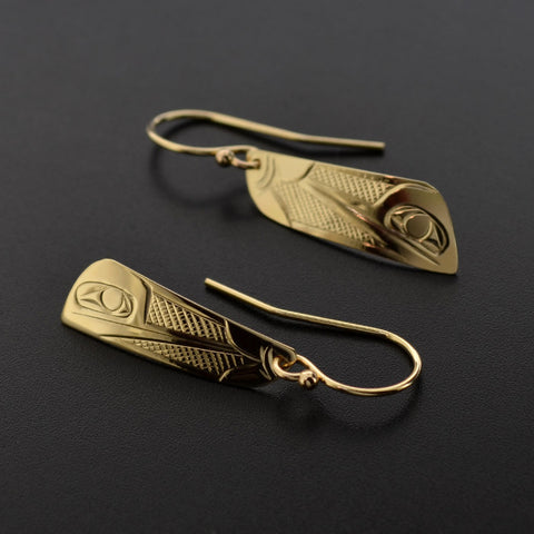 Hummingbird - 14k Gold Earrings