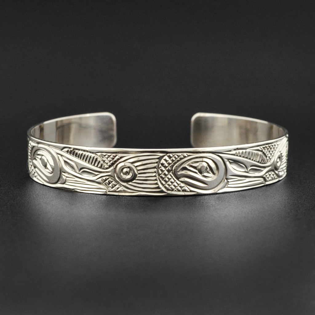School of Salmon - Silver Bracelet