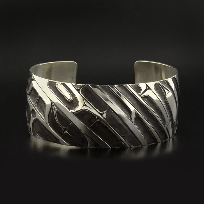 Abstract (Mouse Woman) - Silver Bracelet