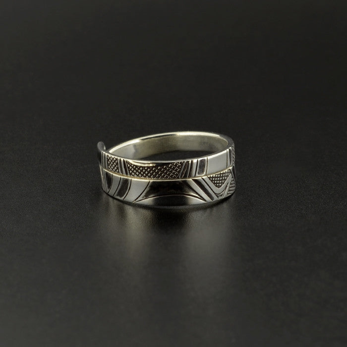 Abstract - Silver Ring