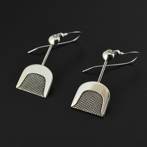Abstract - Silver Earrings