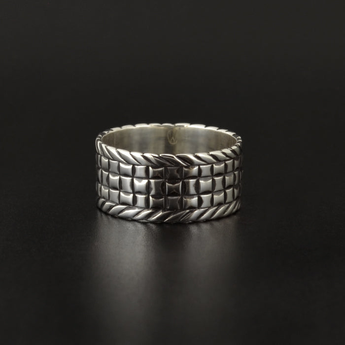 Basket Weaving - Silver Ring