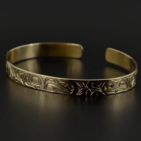 Eagles with Bear - 14k Gold Bracelet