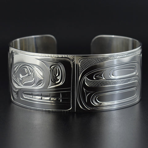 Whale and Salmon - Silver Bracelet