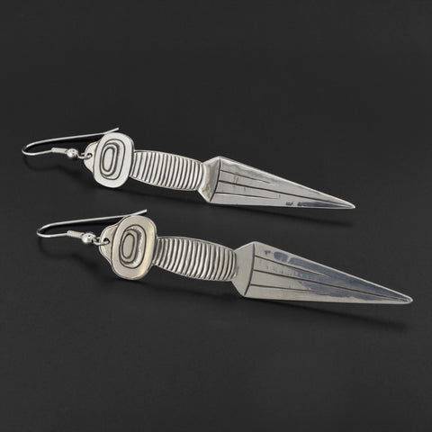 Dagger - Silver Earrings