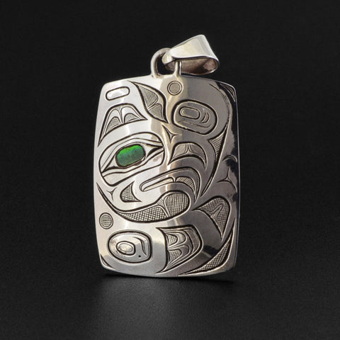 Thunderbird - Silver Pendant with Abalone