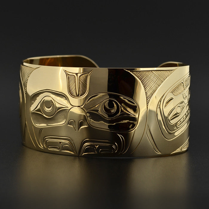 Eagle with Beaver - 14k Gold Bracelet