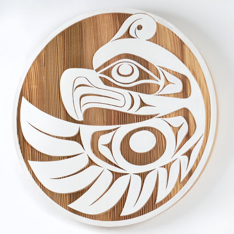 Thunderbird in Flight - Red Cedar Panel