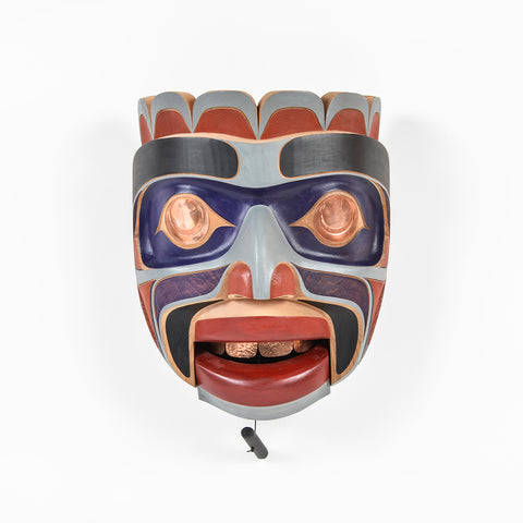 Kumugwe - Red Cedar Mask with Copper