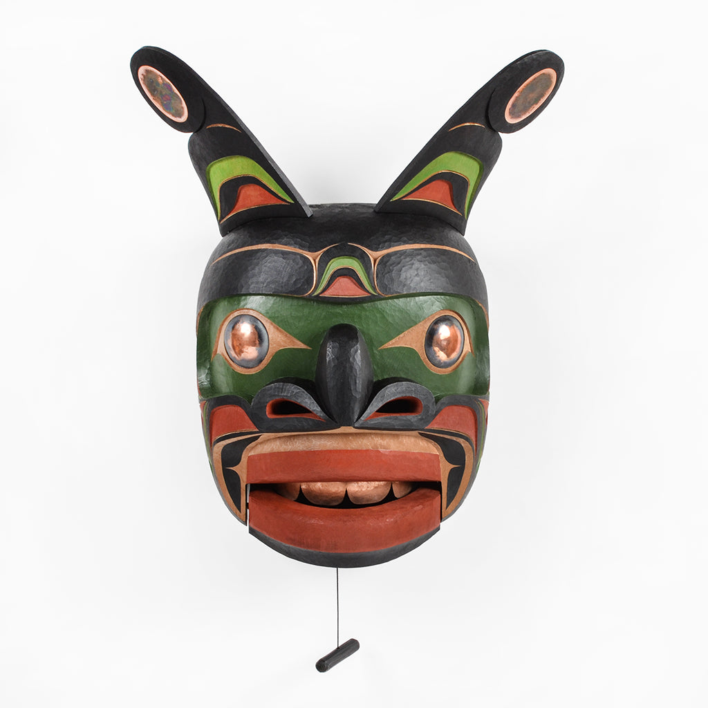 Sea Monster - Red Cedar Mask with Copper
