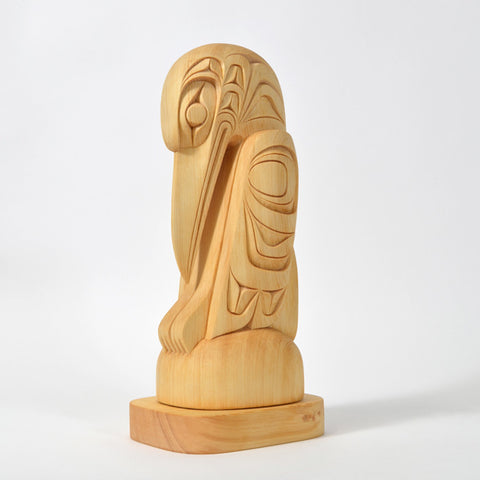 Raven - Yellow Cedar Sculpture