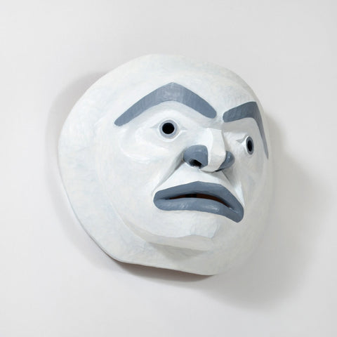 Moon Mask - Red Cedar Mask
