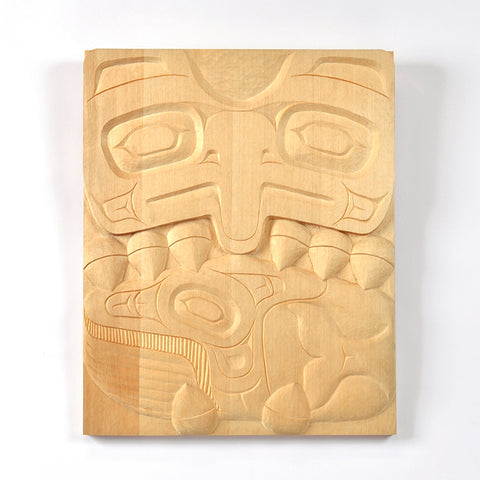 Thunderbird Catching Whale - Yellow Cedar Panel