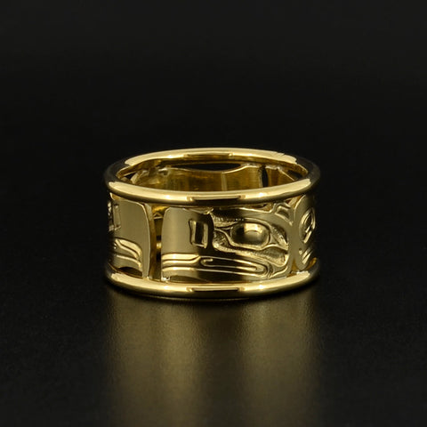 Eagle and Raven - 18k Gold Ring