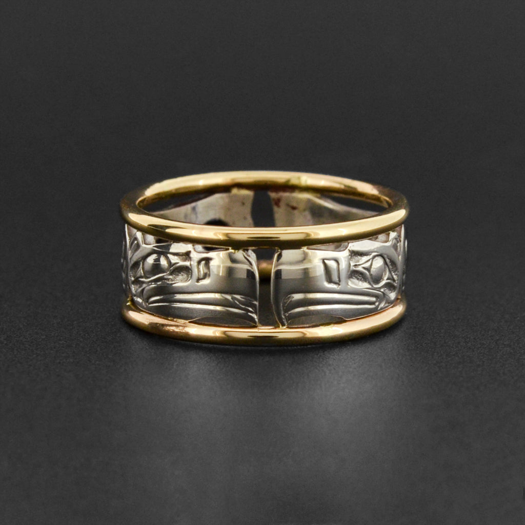 Eagles - Silver and Gold Ring